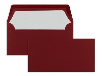 Buste da lettera colorate - Rosso ~110 x 220 mm (DL) |...
