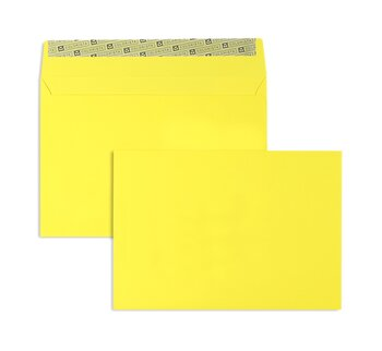 Buste da lettera colorate - Giallo ~162 x 229 mm C5 | 130...