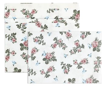 Buste tessili - Bianco (Rose-Motive)~114 x 162 mm (C6) |...