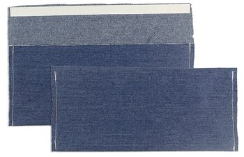 Buste tessili colorate - Blu (Jeans)~110 x 220 mm (DL) |...
